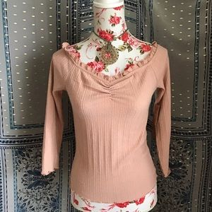 💖BNWT ALMOST FAMOUS TOP ROSE GOLD NEW
